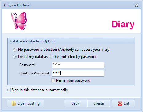 Determine password protection and sign in options